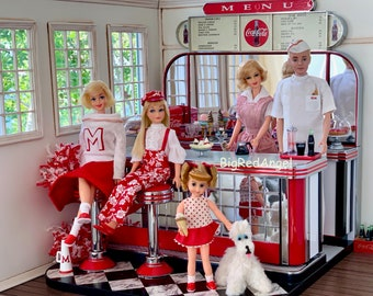 Barbie Family Diner Fine Art Photograph