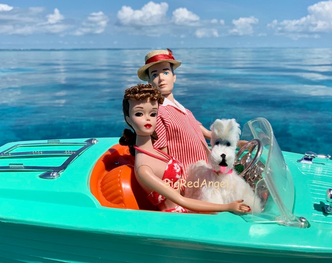 Featured listing image: Vintage Barbie & Ken Boating Fine Art Print