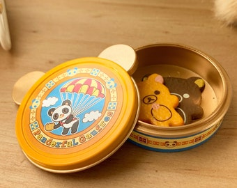 Panda Bear Cookie Tin & Bear Cookies