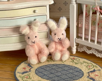 Pink Handmade 3 way Jointed Bunny