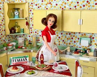 Vintage Barbie Italian Dinner Fine Art Photograph