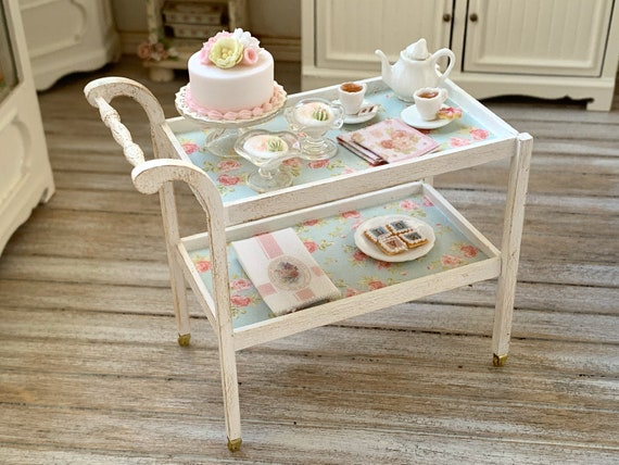 Handmade Tea Cart Artisan 12th Scale Betsy Niederer