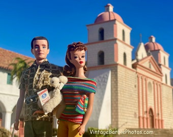 Barbie & Ken Santa Barbara Mission Fine Art Photograph