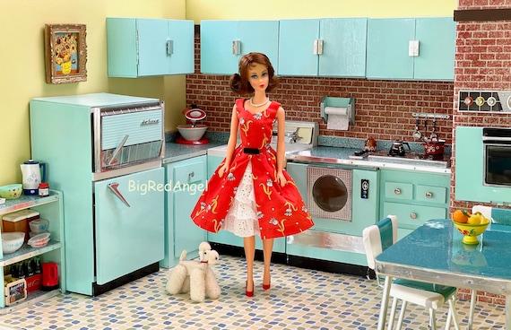 Vintage Barbie Mid Century Modern Kitchen