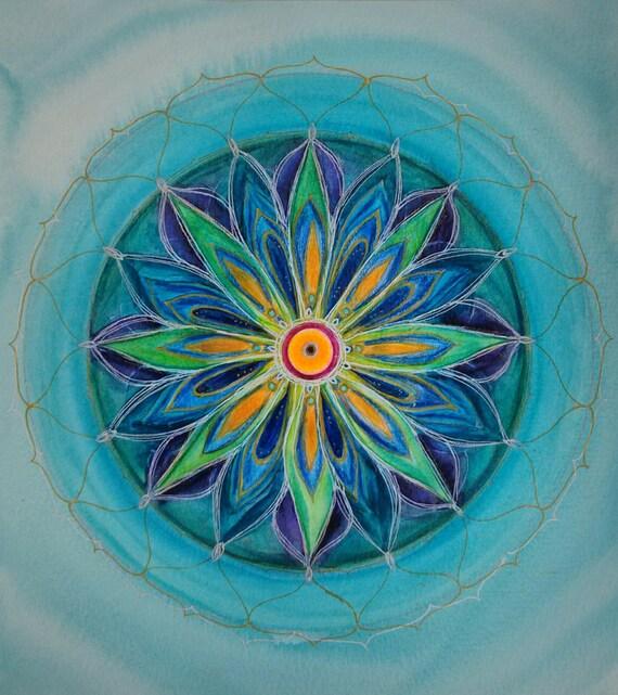 Frühling Mandalas Originale Mandala Malen Heilung Mandala Etsy