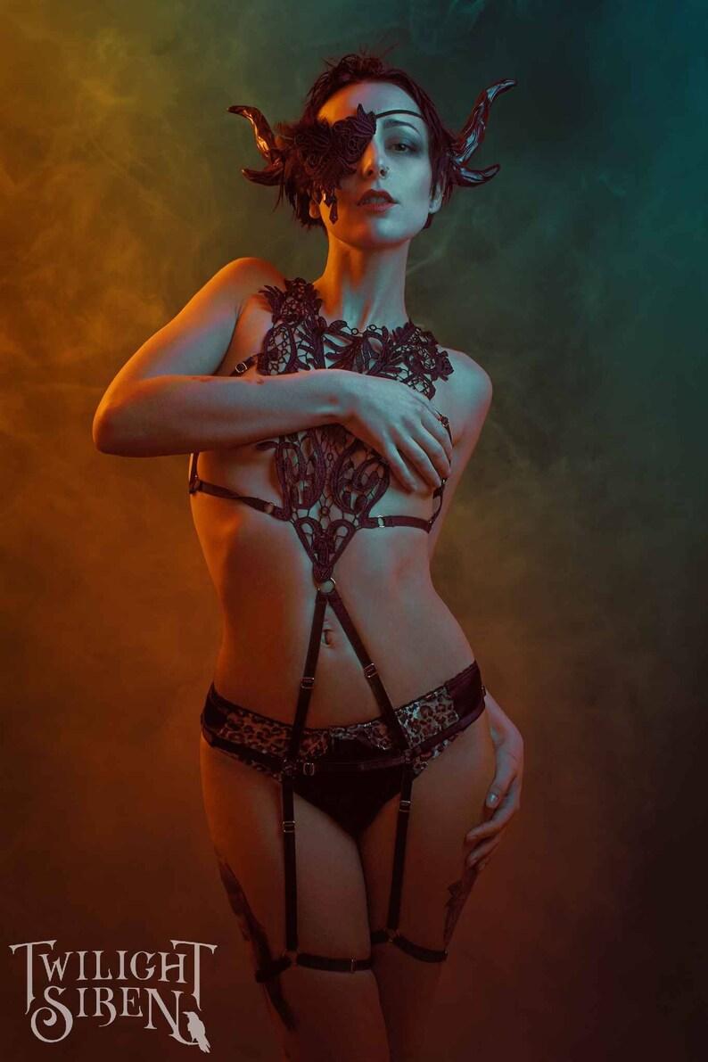 8fbc514d6fc LACE BODY HARNESS playsuit   Hella lace frame bra   adjustable