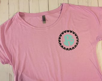 Mickey monogram Woman's shirt - Lilac
