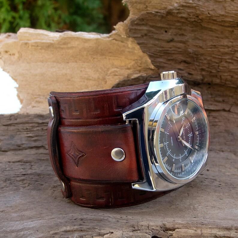 66d717ea5e3b Reloj de cuero para hombre reloj de pulsera de la mano