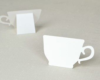 Tea Cup shaped Place cards Set of  24