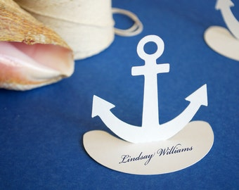 Anchor Nautical Place Cards Set of 24