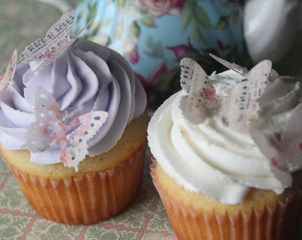 Shabby Chic 50 Mini Butterfly Edible Cake Topper