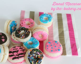 Donut Macarons by Little Hope Cakes