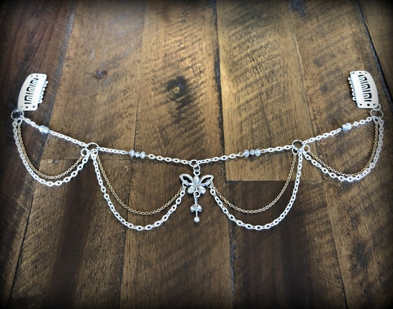 Unique enchanting design. Whimsical Fairy Hair Piece One Size fits all