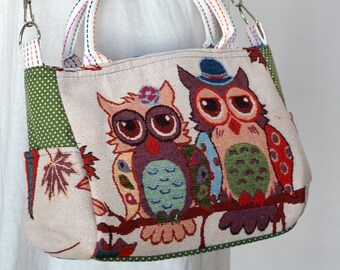 fe8971f1b9e Vintage Hippie Style Handbag Owl Crossbody Bag Boho Hobo Bag Shoulder Bag  Sling Messenger Bag Chic Purse, Snowy Owl Couple