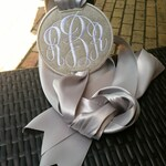 Monogrammed Pillow Charms/Pillow Accessory/Housewarming/Wedding Gift