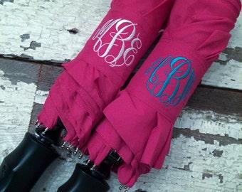 Umbrella/PINK Monogram/Personalized Umbrella/Bridesmaid Gift/Graduation Gift