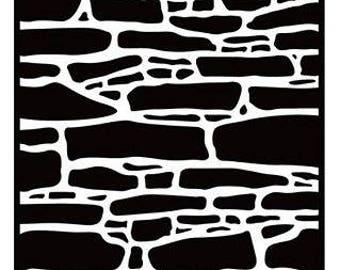Hobby Solution Embossing Folder - Stone Wall