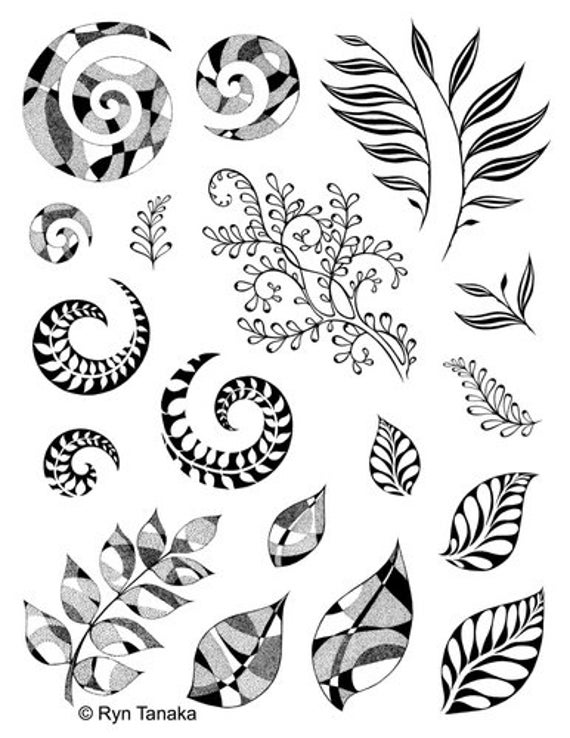Designs By Ryn Unmounted Rubber Stamp Set Spirals And Etsy