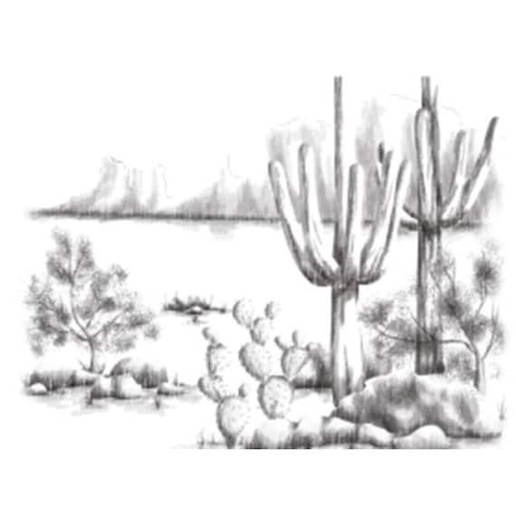 Spellbinders 3d Shading Cling Stamp Desert Cactus Etsy