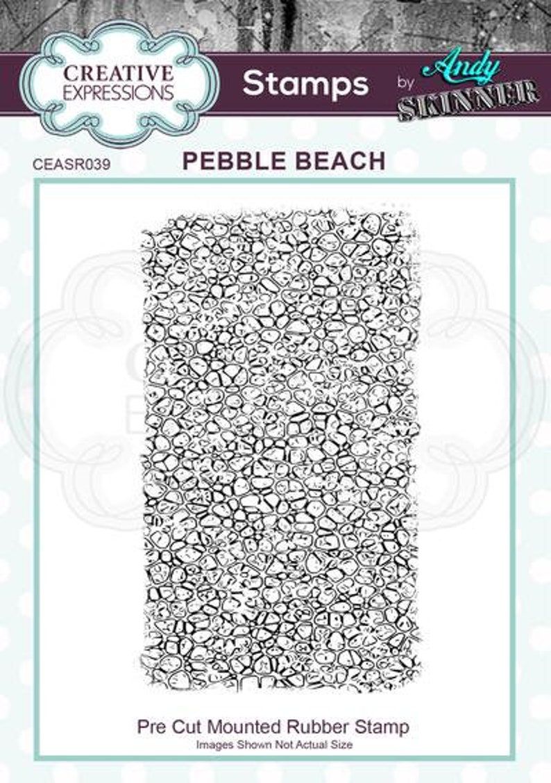 Creative Expressions Stamp Andy Skinner Pebble Beach
