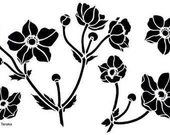 Designs by Ryn - Stencil - Japanese Anemone S-6