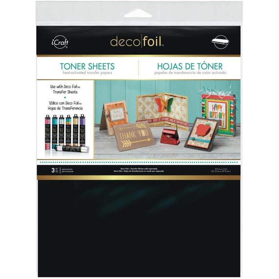 Deco Foil Toner Sheets Heat Activated Transfer Papers Hot