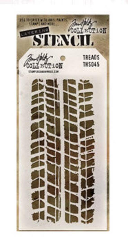 Tim Holtz Layering Stencil Treads Ths045 Etsy