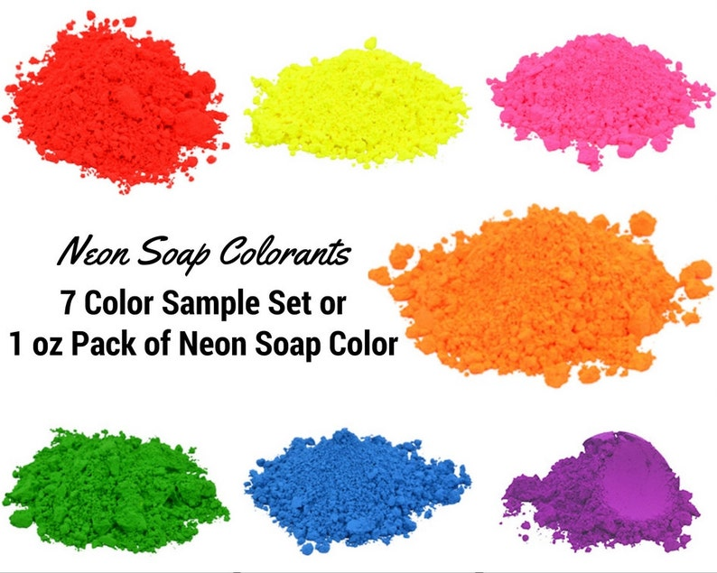 7 Neon Blue Soap Colorant Sample Pack Neon Mica Powder Oxide | Etsy