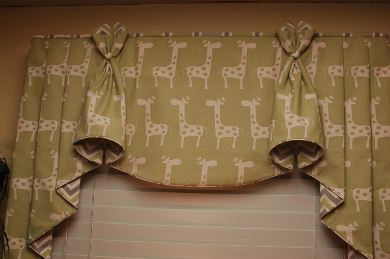 BUNNY EARS Hidden Rod Pocket Valance with jabots fits image 0