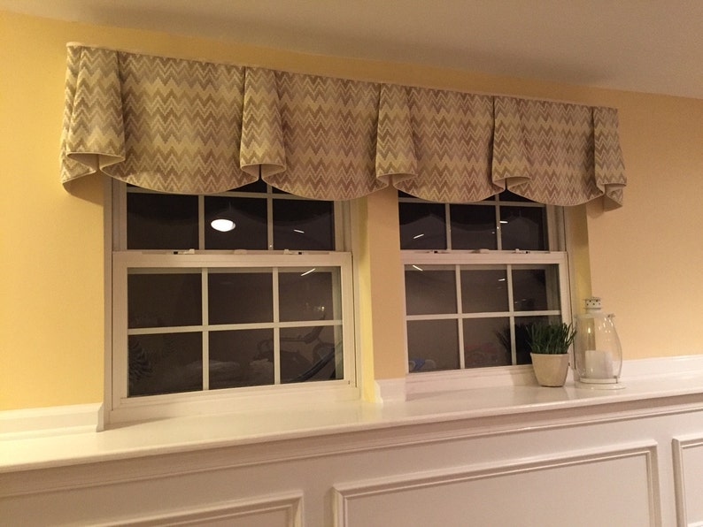 Made to Order ANNA Hidden Rod Pocket Valance fits 67 image 0