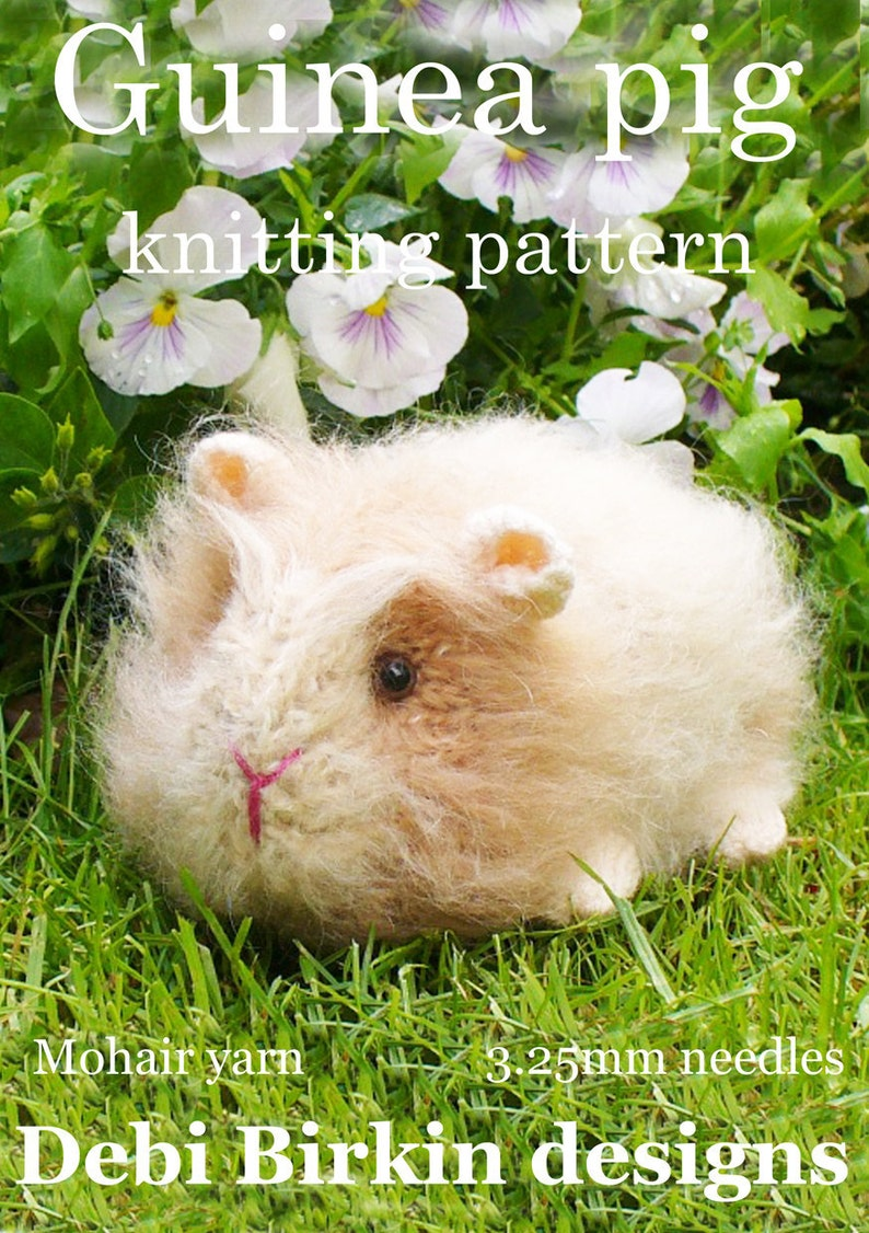guineapig guinea pig  PDF email toy knitting pattern image 0