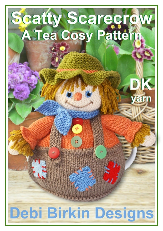 Scarecrow Knitting Pattern Tea Cosy Teacozy Cozy Cosies Pdf Etsy