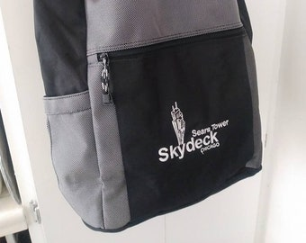 f5228a1c14 Sears Tower Chicago Sky Deck Back Pack Tote Carry On Storage