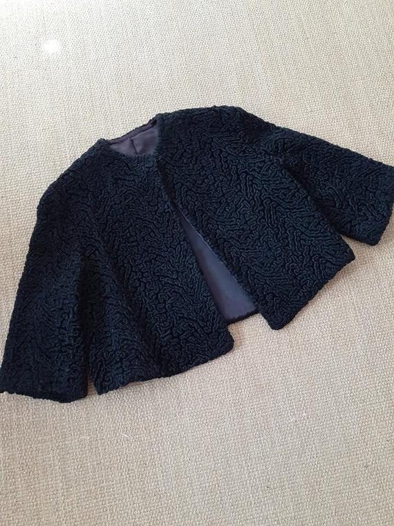 Vintage Black Poodle Jacket