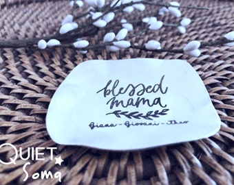 Ring Dish Valentine Gift Gift for Mom Gift for Mama Blessed Mama Trinket Dish Baby Shower Gift New Mama Gift