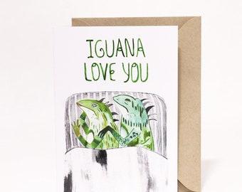 Iguana Love You Card
