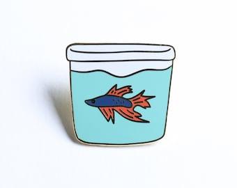 Betta Fish Enamel Pin