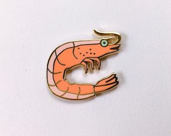 Shrimp Enamel Pin