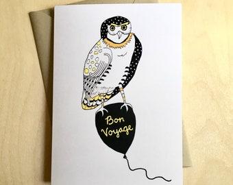 Bon Voyage Owl Card
