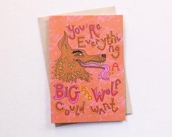 Big Bad Wolf Greeting Card
