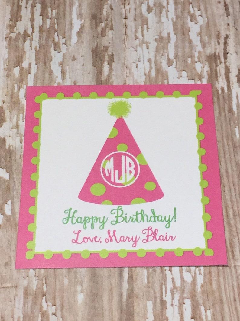 Gift Card Enclosure Birthday Tag