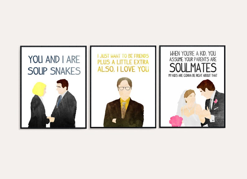 The Office Love Quotes Pam And Jim Michael And Holly Etsy