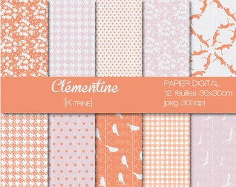 Matching scrapbooking digital paper