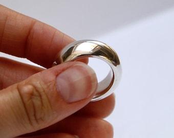 Chunky Silver Statement Ring Jupiter