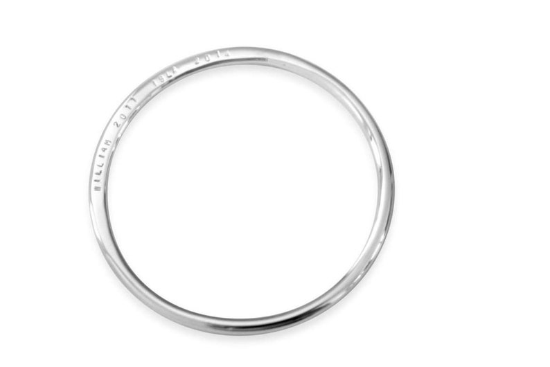f6918d97fee0 BRACELET PERSONALIZED Sterling SILVER Bangle Hand Stamped
