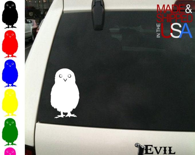 Owl Decal Sticker Car Window Bird Animal Laptop Drake iPhone Samsung iPad Tablet Case Art Vinyl ANY SIZE