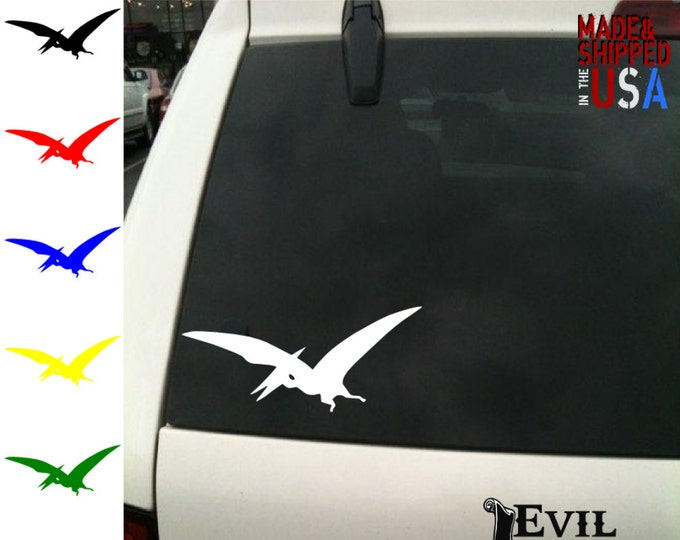 Pterodactyl Decal Sticker Car Window Dinosaur Trex Bird Art for iPhone Samsung iPad Tablet Case Laptop Vinyl ANY SIZE