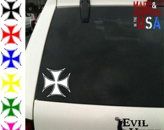 Motorcycle Cross Decal Sticker Helmet Biker Car Window Harley SOA iPhone Samsung iPad Tablet Laptop Case Vinyl ANY SIZE