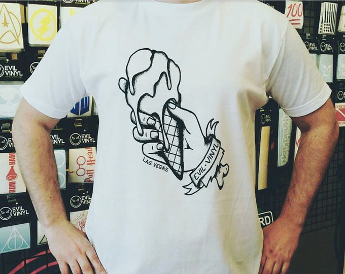 I Scream Evil Vinyl Tshirt