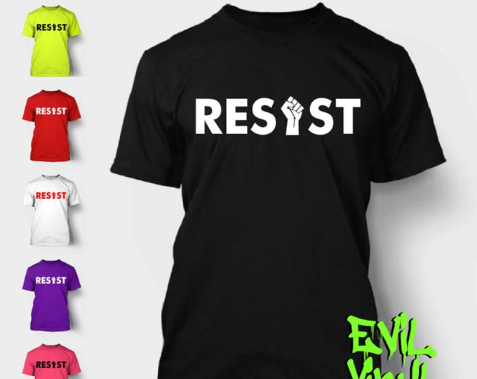 Resist T-Shirt Trump Political President Revolution Revolt America Peace USA Tee Shirt Neon FREE SHIPPING